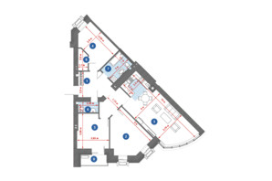 ЖК City Park: планировка 3-комнатной квартиры 108.05 м²