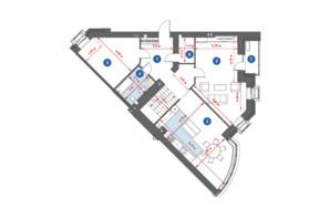 ЖК City Park: планировка 4-комнатной квартиры 167.24 м²