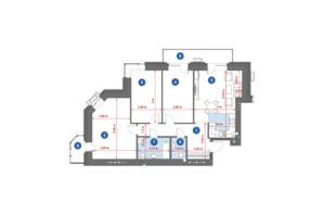 ЖК City Park: планировка 3-комнатной квартиры 109.21 м²