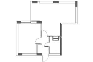 ЖК City Park: планировка 1-комнатной квартиры 46.3 м²