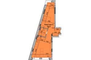 ЖК Classic Hall: планировка 1-комнатной квартиры 57.9 м²