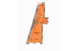 ЖК Classic Hall (Классік Хол): планування 1-кімнатної квартири 56.2 м²