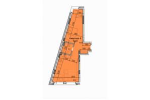 ЖК Classic Hall (Классік Хол): планування 1-кімнатної квартири 57.9 м²