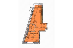 ЖК Classic Hall (Классік Хол): планування 1-кімнатної квартири 36.6 м²