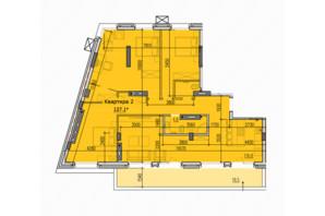 ЖК Classic Hall (Классік Хол): планування 3-кімнатної квартири 127.1 м²