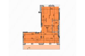 ЖК Classic Hall (Классік Хол): планування 3-кімнатної квартири 94.1 м²