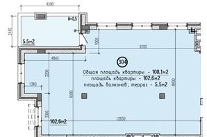 ЖК Club House: планировка 4-комнатной квартиры 108 м²