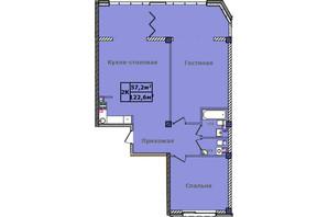 ЖК Comfort City Рибінський: планування 2-кімнатної квартири 122.6 м²
