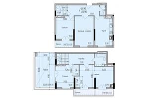 ЖК Comfort Hall: планування 4-кімнатної квартири 123 м²