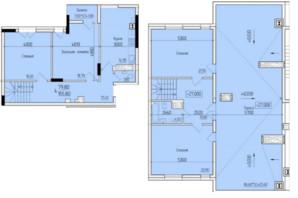 ЖК Comfort Hall: планування 4-кімнатної квартири 155.8 м²
