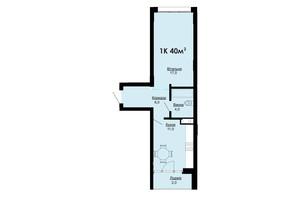 ЖК Comfort Park: планування 1-кімнатної квартири 40 м²