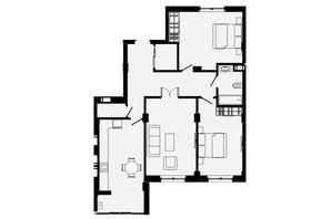 ЖК Comfort Park: планування 3-кімнатної квартири 95 м²