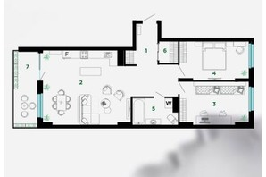 ЖК Comfort Park: планировка 3-комнатной квартиры 93 м²