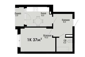 ЖК Comfort Park: планировка 1-комнатной квартиры 37 м²