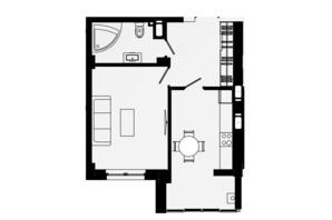 ЖК Comfort Park: планировка 1-комнатной квартиры 42 м²