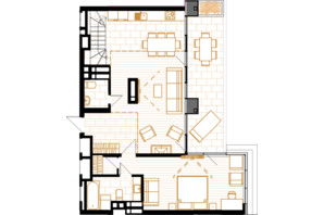 ЖК Creator City: планировка 5-комнатной квартиры 147.47 м²