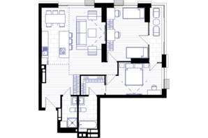 ЖК Creator City: планировка 3-комнатной квартиры 92.54 м²