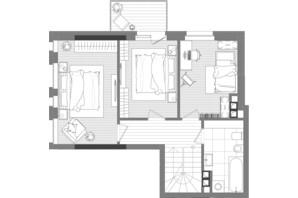 ЖК Creator City: планировка 5-комнатной квартиры 133.1 м²
