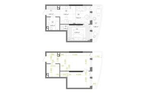 ЖК Creator City: планировка 1-комнатной квартиры 45.32 м²