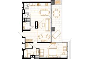 ЖК Creator City: планування 5-кімнатної квартири 147.47 м²