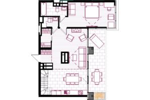 ЖК Creator City: планування 5-кімнатної квартири 149.9 м²