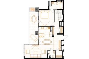 ЖК Creator City: планування 5-кімнатної квартири 158.49 м²