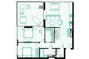 ЖК Creator City: планування 6-кімнатної квартири 183.97 м²