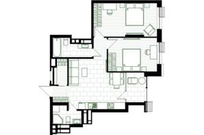 ЖК Creator City: планування 2-кімнатної квартири 69.86 м²