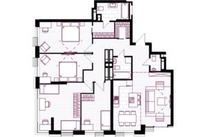 ЖК Creator City: планування 5-кімнатної квартири 128.14 м²