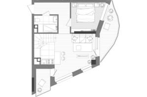 ЖК Creator City: планування 3-кімнатної квартири 99.31 м²