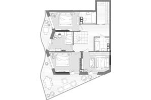 ЖК Creator City: планування 5-кімнатної квартири 177.96 м²