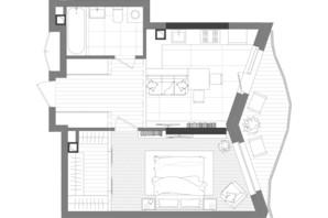 ЖК Creator City: планування 1-кімнатної квартири 48.87 м²