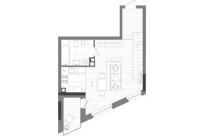 ЖК Creator City: планування 1-кімнатної квартири 84.71 м²