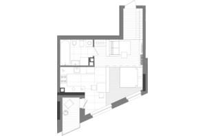 ЖК Creator City: планування 1-кімнатної квартири 43 м²