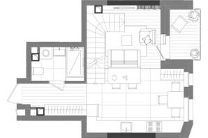 ЖК Creator City: планування 1-кімнатної квартири 70.56 м²