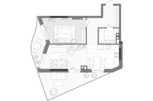 ЖК Creator City: планування 2-кімнатної квартири 67.62 м²