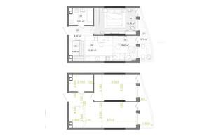 ЖК Creator City: планування 1-кімнатної квартири 50.82 м²