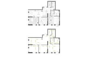 ЖК Creator City: планування 3-кімнатної квартири 92.32 м²