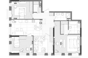ЖК Creator City: планування 3-кімнатної квартири 105.29 м²