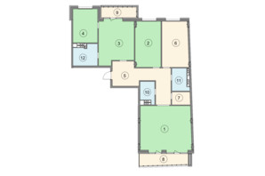 ЖК Crystal Park: планировка 4-комнатной квартиры 160.8 м²