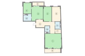 ЖК Crystal Park: планировка 4-комнатной квартиры 161.9 м²