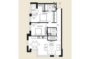 ЖК Crystal Park Tower: планировка 2-комнатной квартиры 96.95 м²