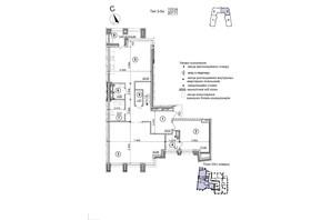 ЖК Crystal Park Tower: планування 5-кімнатної квартири 207.71 м²