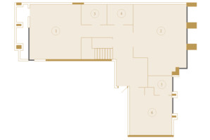 ЖК Crystal Park Tower: планування 5-кімнатної квартири 207.52 м²