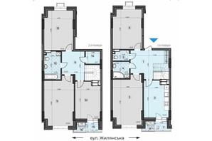 ЖК Crystal Residence: планировка 5-комнатной квартиры 166.25 м²