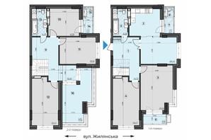 ЖК Crystal Residence: планировка 5-комнатной квартиры 170.85 м²
