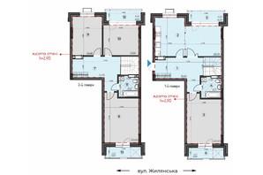 ЖК Crystal Residence: планировка 4-комнатной квартиры 153.3 м²