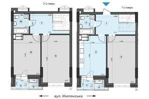 ЖК Crystal Residence: планировка 3-комнатной квартиры 102.16 м²