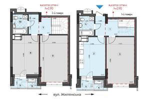 ЖК Crystal Residence: планировка 3-комнатной квартиры 124.14 м²