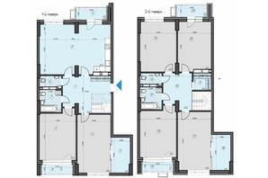 ЖК Crystal Residence: планировка 6-комнатной квартиры 233.4 м²